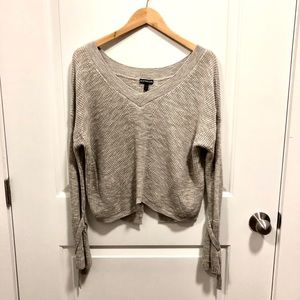 Express cropped sweater with bell sleeves